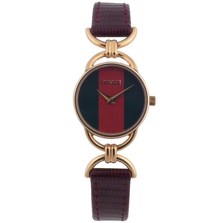 0763cf9ee Gucci Ladies Gold-Plated Quartz Wristwatch For Sale at 1stdibs