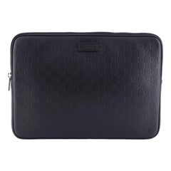 Gucci Laptop Sleeve Guccissima Leather