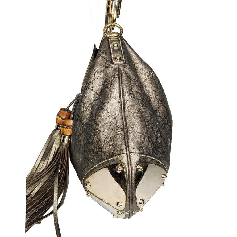 Black Gucci Large Babouska Indy Bag Top Handle Hobo For Sale