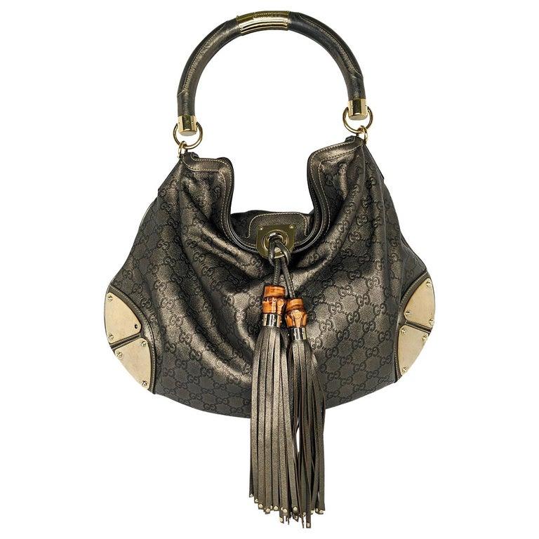 Gucci Large Babouska Indy Bag Top Handle Hobo For Sale