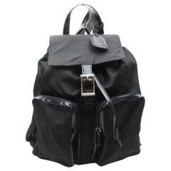 Gucci Large Double Pocket 868921 Black Nylon Backpack