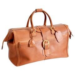 Gucci Large Duffel Travel Bag Pigskin Leather Luggage Rare 65cm