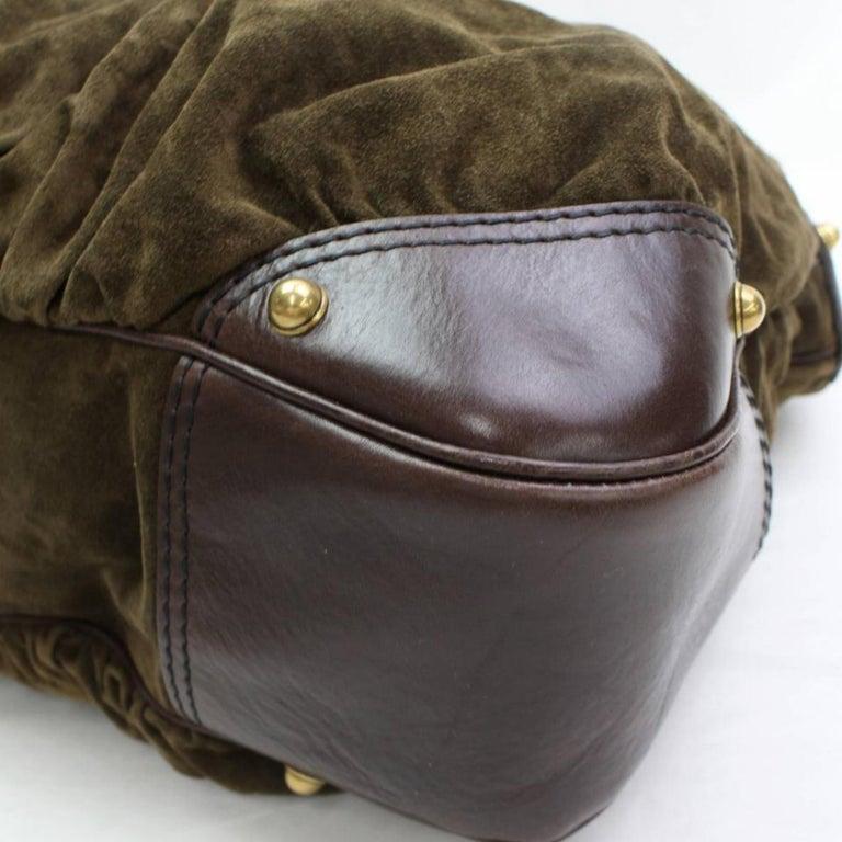 cb6ed6bed30 Gucci Large Jockey Hobo 868202 Brown Suede Leather Shoulder Bag For Sale 7