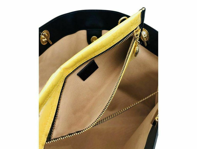 Gucci Large Rajah Tote Bag with Pouch - Yellow For Sale 3