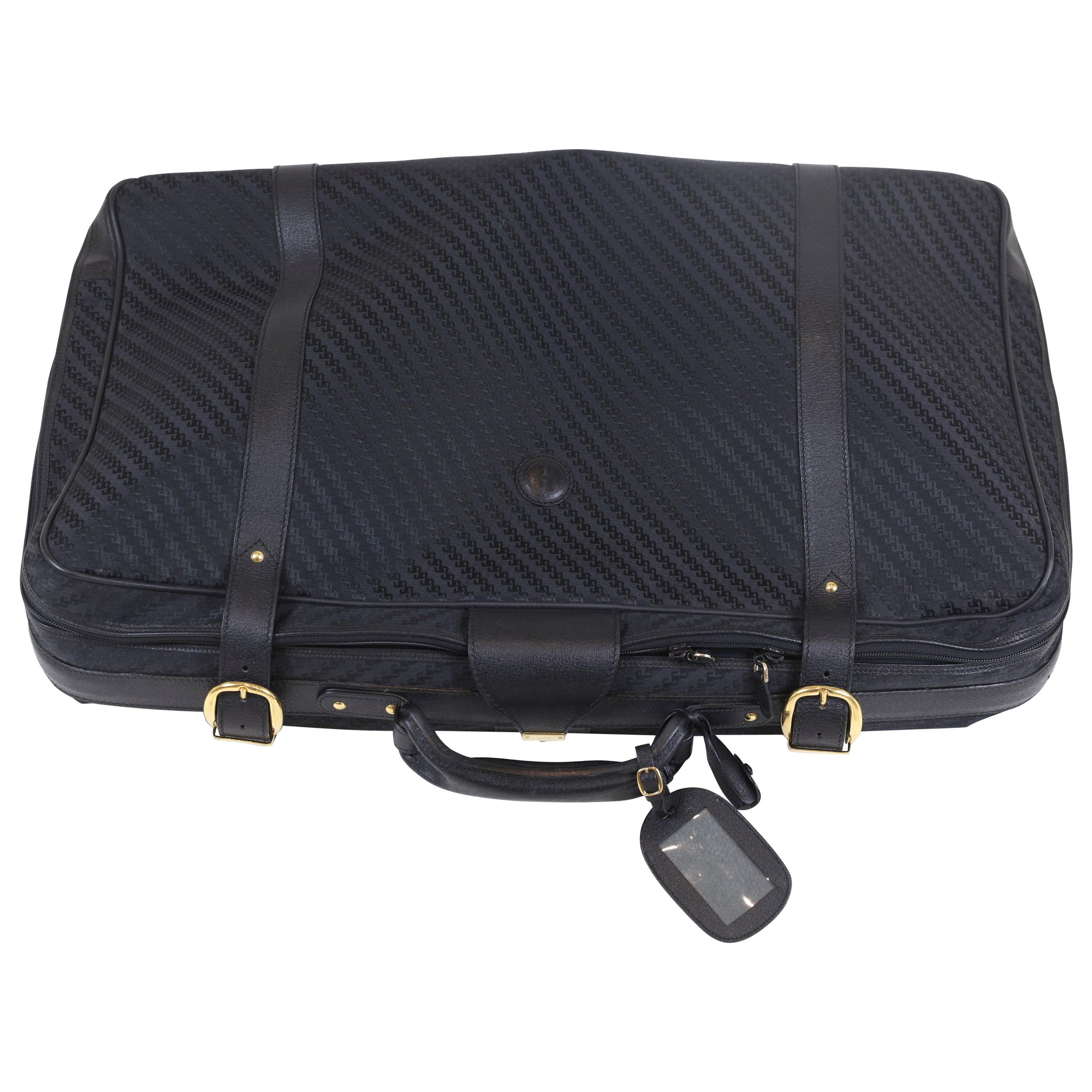 Gucci Large Suitcase with Gold Hardware & Lock Accent