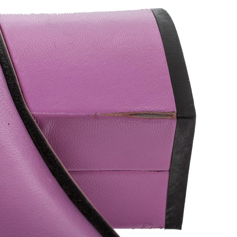 Gucci Lavender Leather GG Marmont Fringe Loafer Pumps Size 38 For Sale 2