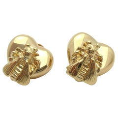 Gucci Le Marche Des Merveilles 18 Karat Gold Stud Earrings