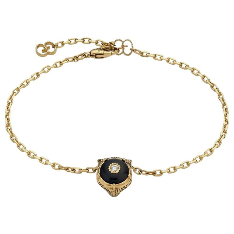 Gucci Le Marché Des Merveilles Black Onyx and Diamond Bracelet YBA502852003