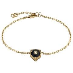 Gucci Le Marché Des Merveilles Black Onyx and Diamond Bracelet YBA502852003