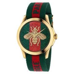 Gucci Le Marche des Merveilles Nylon Strap Watch YA126487A