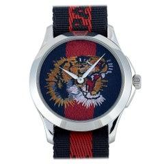 Gucci Le Marché des Merveilles Nylon Strap Watch YA126495
