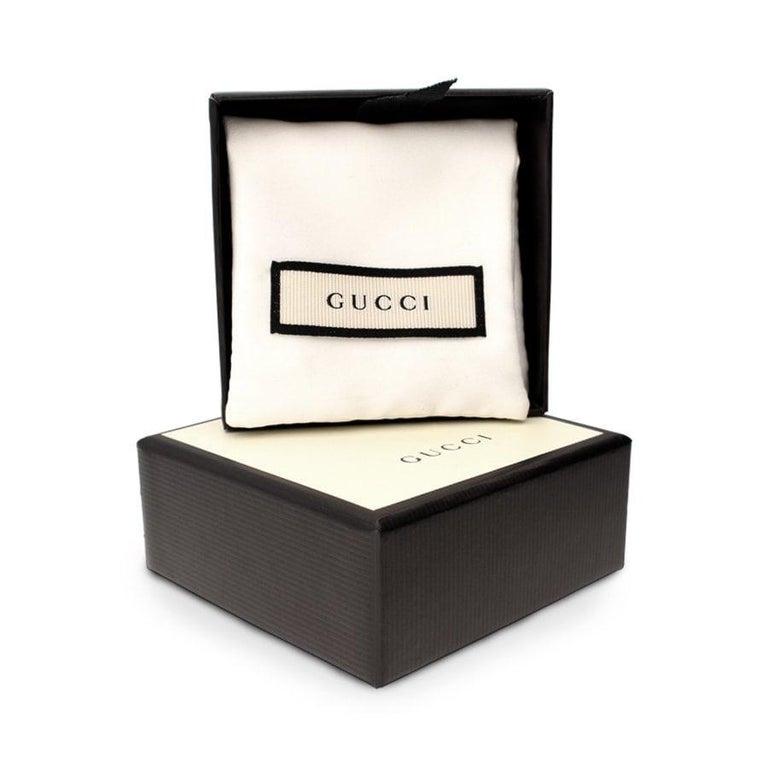Gucci Le Marche Des Merveilles Onyx Tiger Head Drop Earrings YBD502831003 In New Condition For Sale In Wilmington, DE