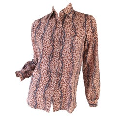 Gucci Leaf and Buckle Print Blouse
