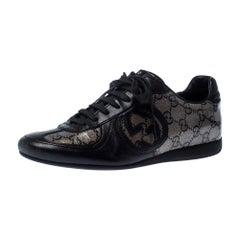 Gucci Leather And Guccissima Crystal Royal Sport Interlocking GG Sneakers 37
