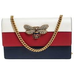 Gucci Leather Multicolor Leather Mini Queen Margaret Chain Shoulder Bag