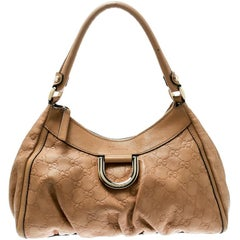 Gucci Light Brown Guccissima Leather Small D Ring Shoulder Bag