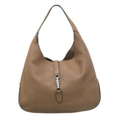 Gucci Light Brown Leather Jackie Hobo