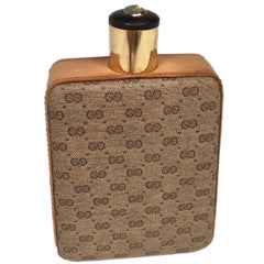 Gucci Light Brown Leather Thermos Flask, Italy, 1970s