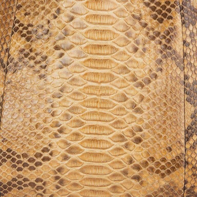 GUCCI light brown PYTHON PELHAM Hobo Shoulder Bag In Excellent Condition For Sale In Zürich, CH