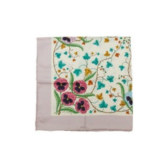 Gucci Lilac & Multicolor Silk Scarf