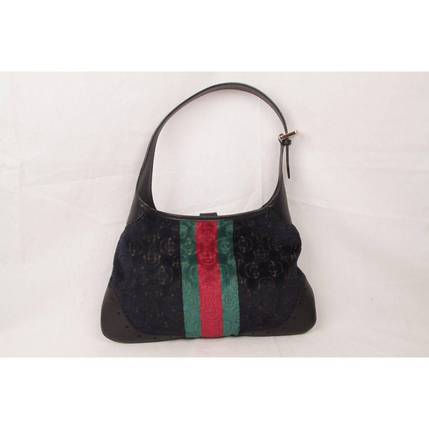 Gucci Limited Edition Black Cut Out Velvet Hobo Jackie O Bag cAAv9Ie3XQ
