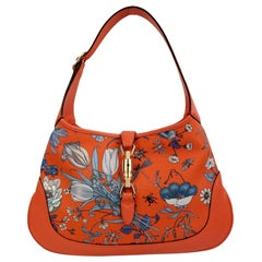 Gucci Limited Edition Jackie Flora Japan Collection Medium Hobo Bag