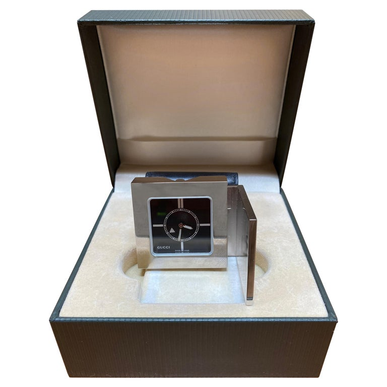 Gucci Limited Edition Luxury Travel Clock, 1970s For Sale
