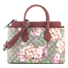 Gucci Linea A Convertible Tote Blooms Print GG Coated Canvas Small