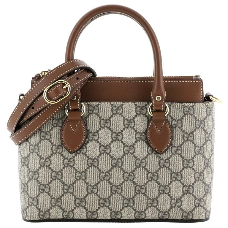 Gucci Linea A Convertible Tote GG Coated Canvas Mini