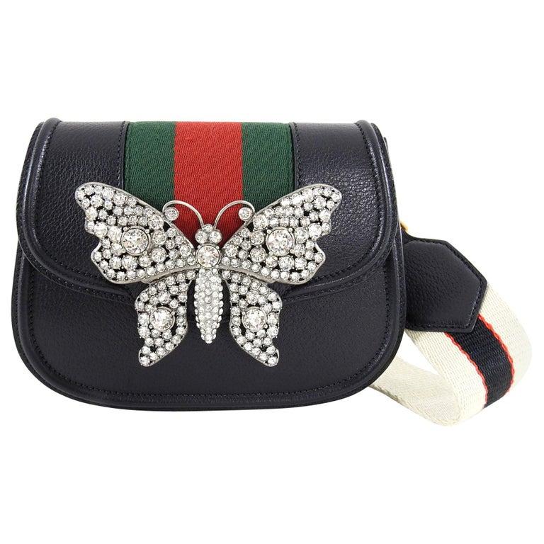 f4e43bbca Gucci Linea Totem Small Crystal Rhinestone Crossbody Bag at 1stdibs