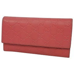 GUCCI LineaGG Womens long wallet 410100 pink