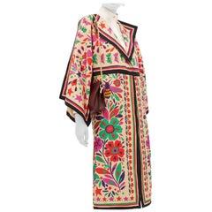 Gucci Linen Blend Paradise Print Eleanor Kimono Coat - Size Small