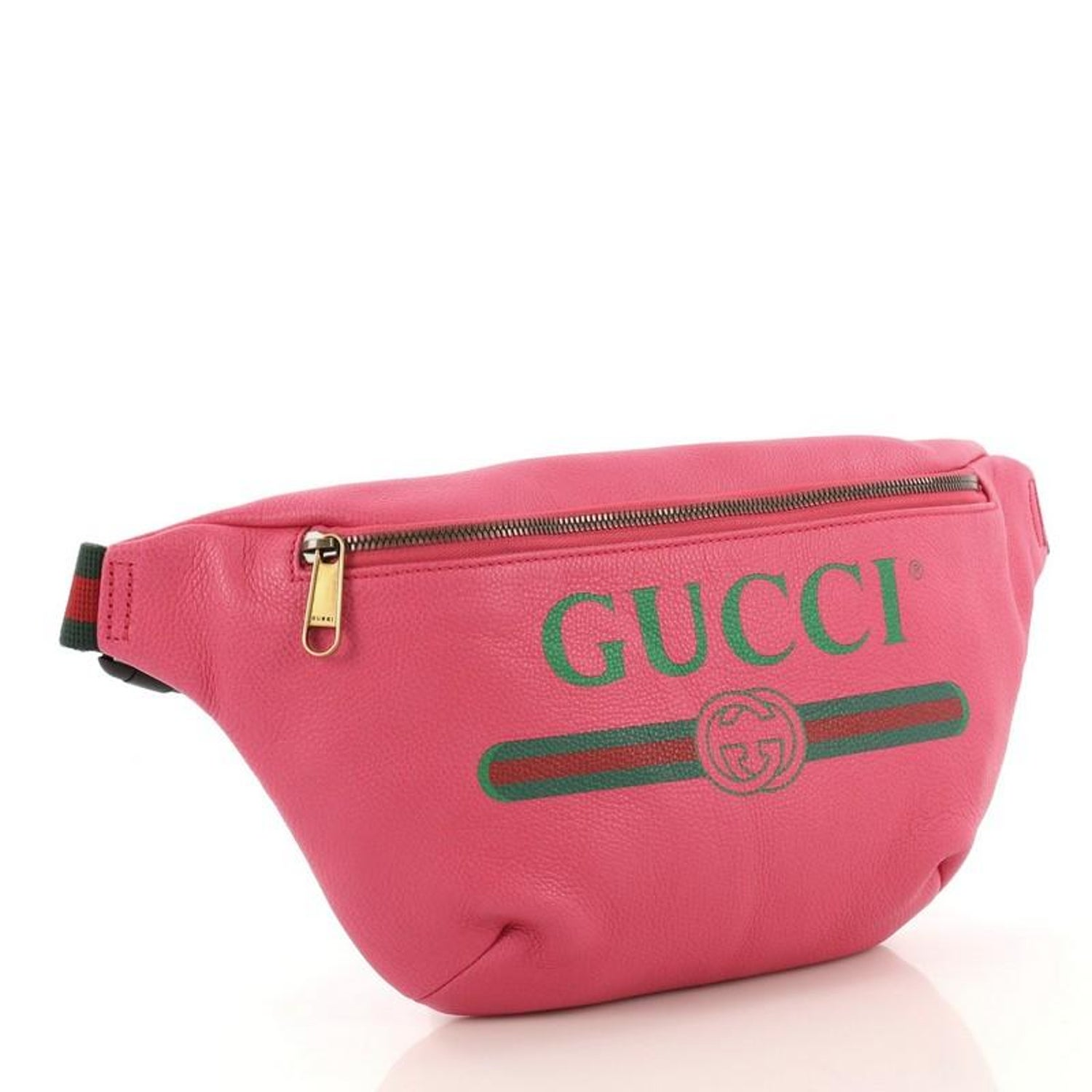 6535db1a8ca2c4 Gucci Logo Belt Bag Printed Leather Medium For Sale at 1stdibs