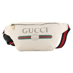 Gucci Logo Belt Bag Printed Leather Medium