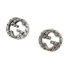GUCCI logo Earrings silver925 Earrings