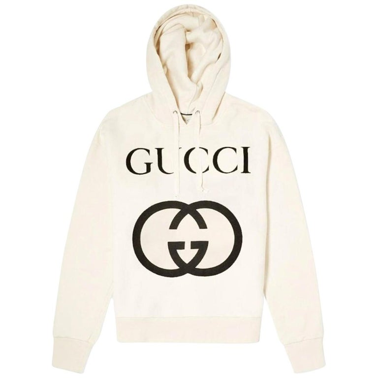 Gucci Logo-Printed Cotton-Jersey Hooded Sweater