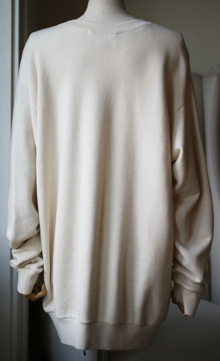Gucci Logo-Printed Cotton-Jersey Sweatshirt In Excellent Condition For Sale In London, GB
