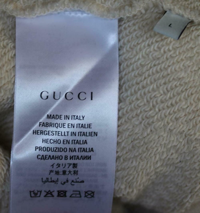 Gucci Logo-Printed Cotton-Jersey Sweatshirt For Sale 1
