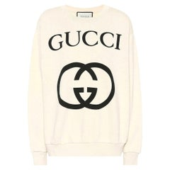 Gucci Logo-Printed Cotton-Jersey Sweatshirt