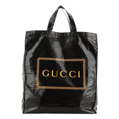 Gucci Logo Shopper Tote Coated Cotton Tall