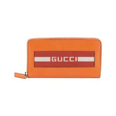 Gucci Logo Zip Around Wallet Leather Long
