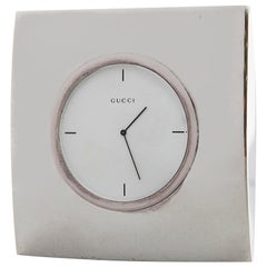 Gucci Luxury Vintage Table Clock, 1970s