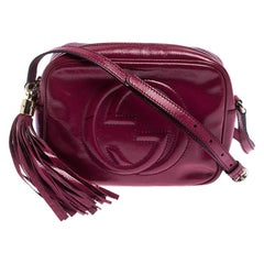 Gucci Magenta Patent Leather Small Soho Disco Shoulder Bag