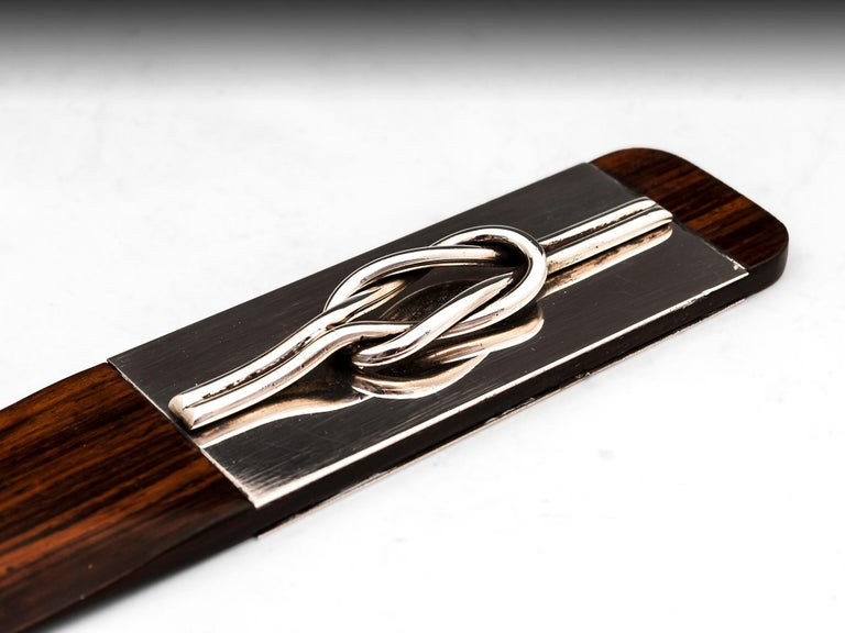 Gucci Mahogany Silver Page Turner Italy, 20th Century In Good Condition For Sale In Northampton, United Kingdom