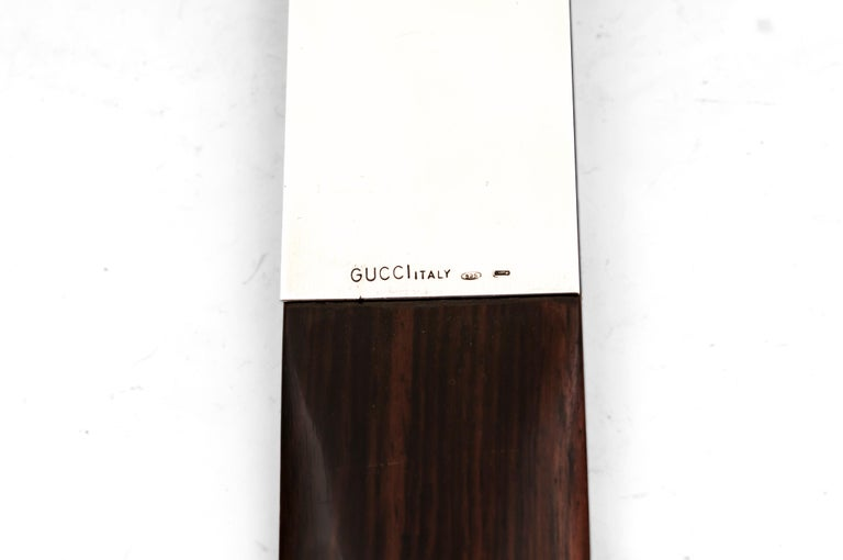 Gucci Mahogany Silver Page Turner Italy, 20th Century For Sale 2