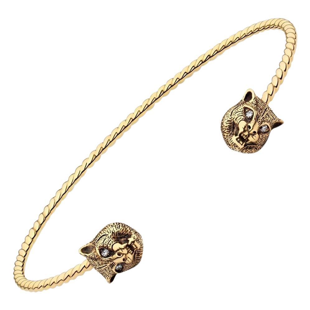 Gucci Marche Des Merveilles Tiger Cuff Bracelet YBA526320001