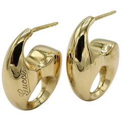 Gucci Marina Chain Link 18 Karat Yellow Gold Earrings