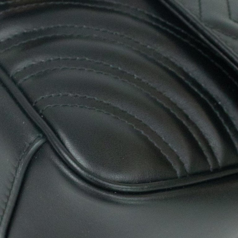 Gucci Marmont in black leather For Sale 6