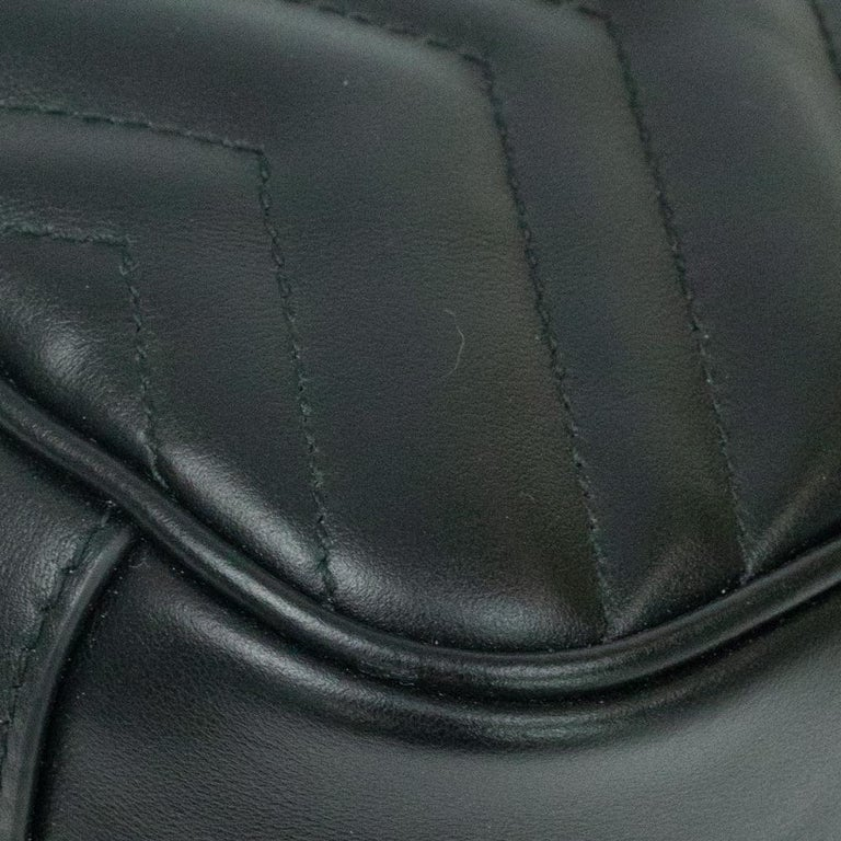 Gucci Marmont in black leather For Sale 8