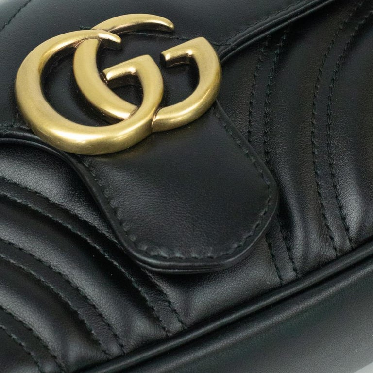 Gucci Marmont in black leather For Sale 9